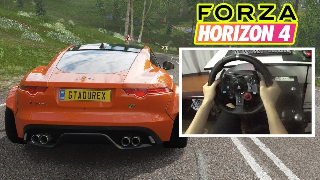 Forza horizon 4 logitech g29 gameplay jaguar ftype r