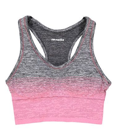 This Gray & Red Dora Seamless Racerback Sports Bra is perfect! #zulilyfinds