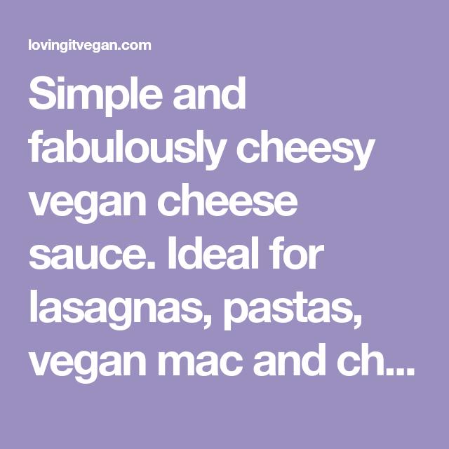 Photo of Creamy Vegan Cheese Sauce (Nut Free)