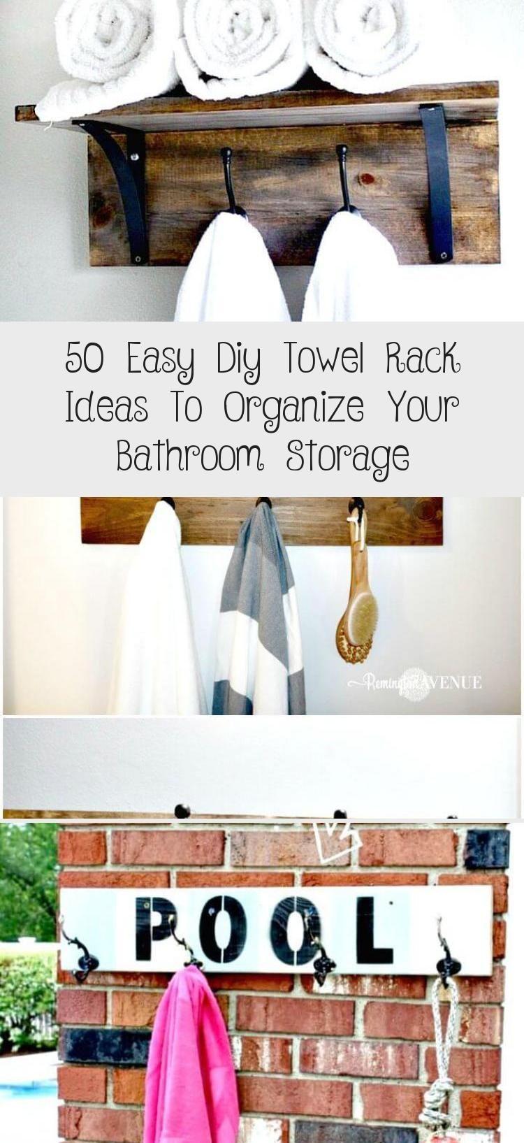 50 Easy Diy Towel Rack Ideas To Organize Your Bathroom