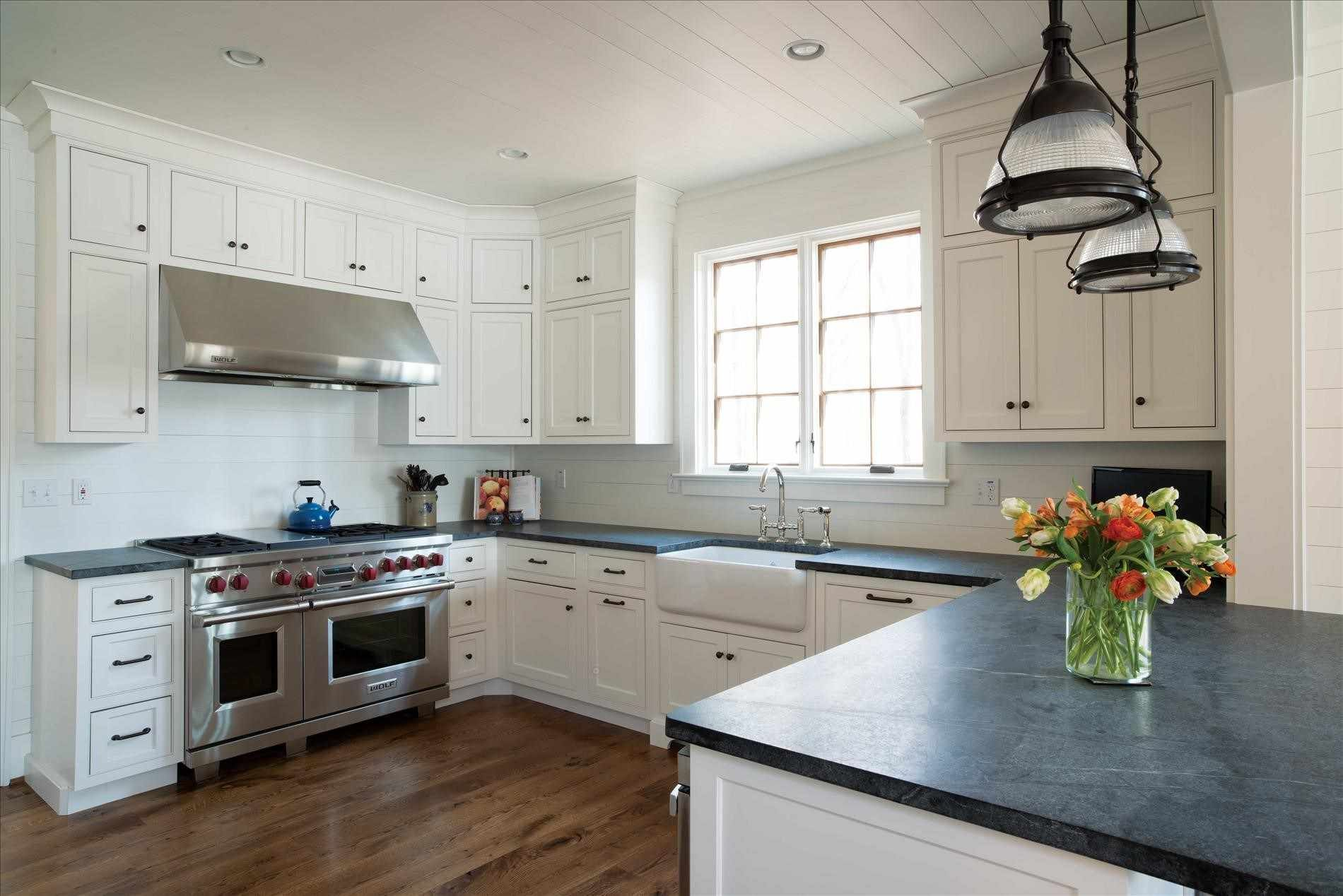 Kitchencharming white kitchen cabinets with soapstone countertops