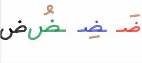 حروف اللغة العربية حرف ض Math Arabic Calligraphy