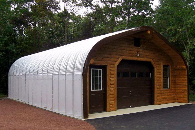 Metal Garages Steel Arch Garage Buildings from