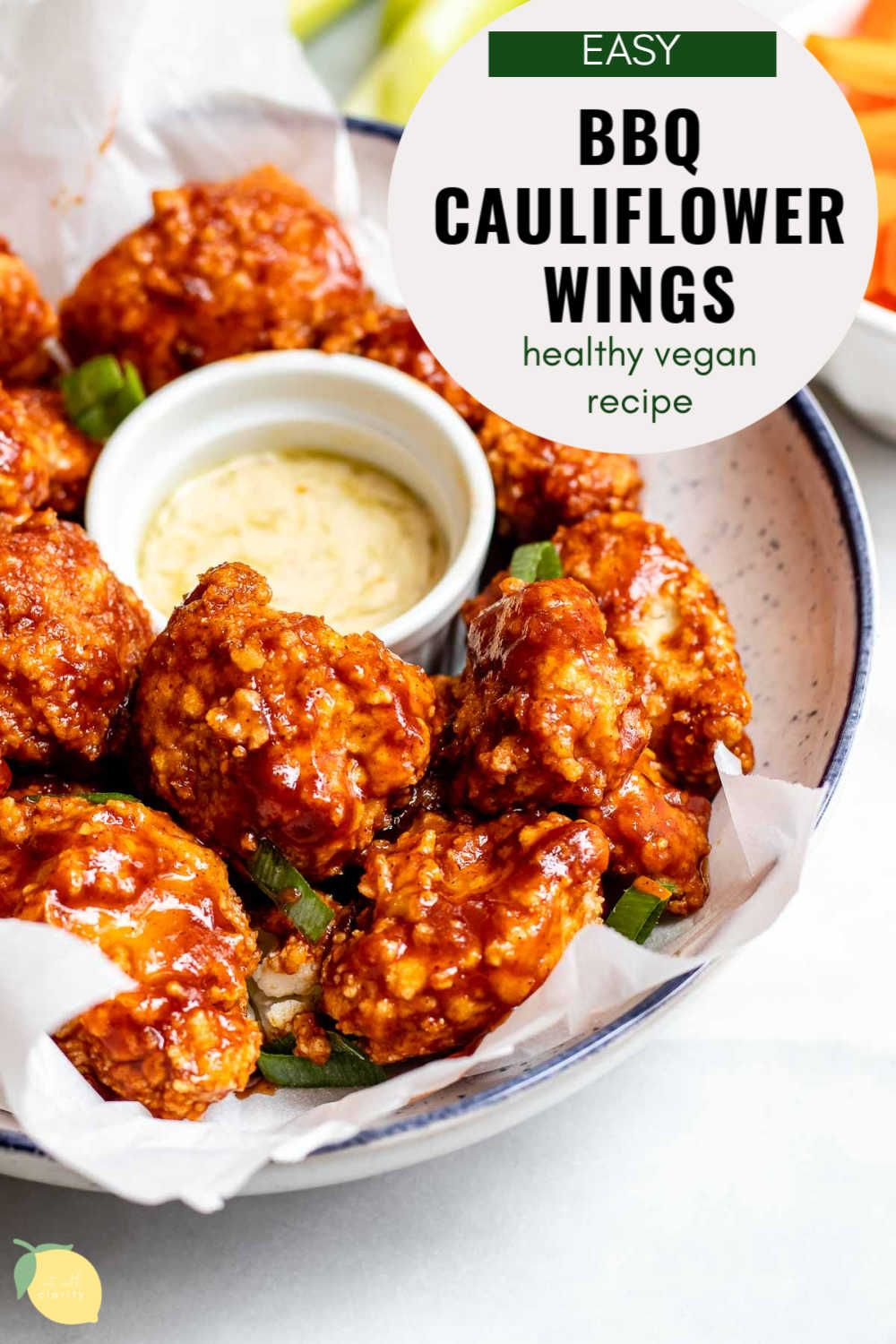 Photo of Baked BBQ Cauliflower Wings | Eat With Clarity Small Bites