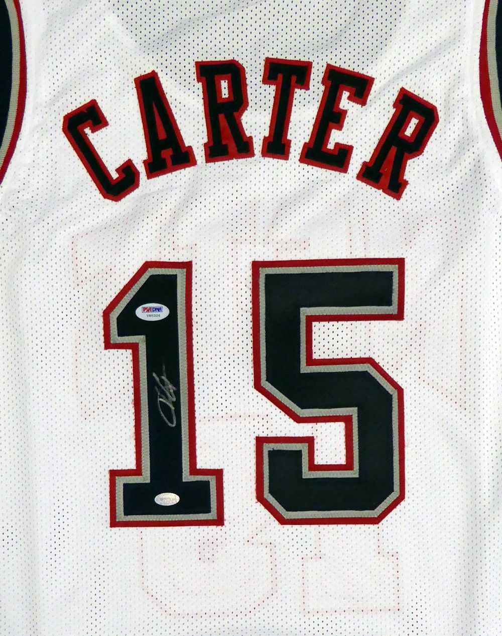 lowest price 48fdf e6bdf New Jersey Nets Vince Carter Autographed White Jersey PSA ...