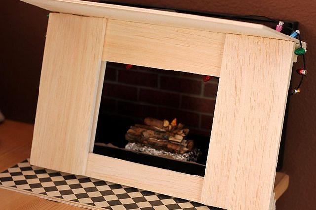 Good DIY American Girl Doll Fireplace Tutorial 18 Inch Dolls   Part 2 Balsal Wood