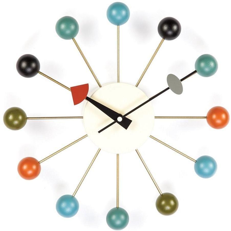 Classic Mid Century Ball Clock Ceiling Lamp Black Floor Lamp Mid Century