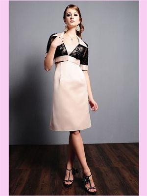 short champagne satin dress