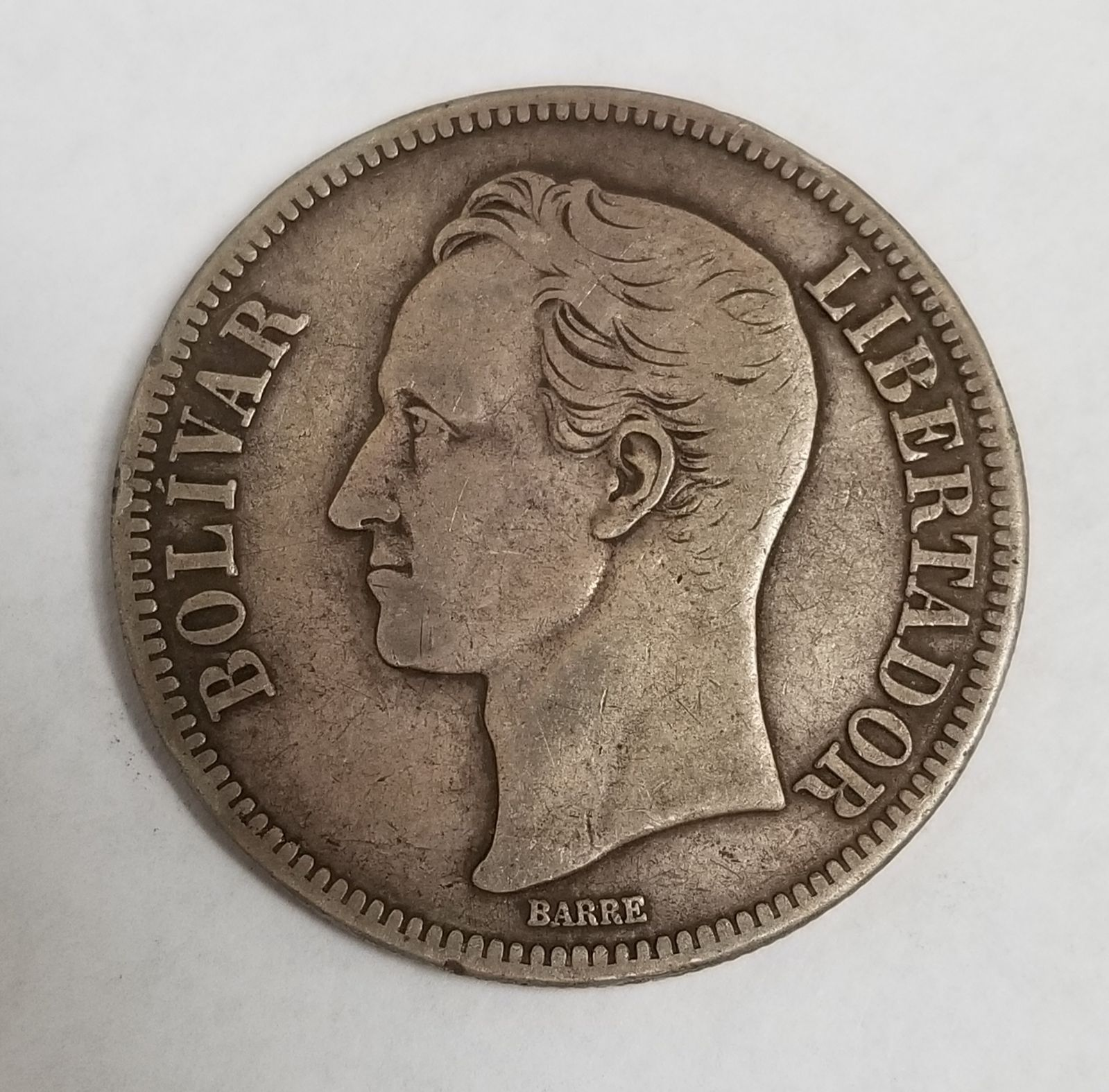 Venezuela 1935 5 Bolivares 25 Gram Silver Coin Composition 90 Silver Total Item Weight 24 6 Grams Please View All Pictures To D Silver Coins Coins Silver