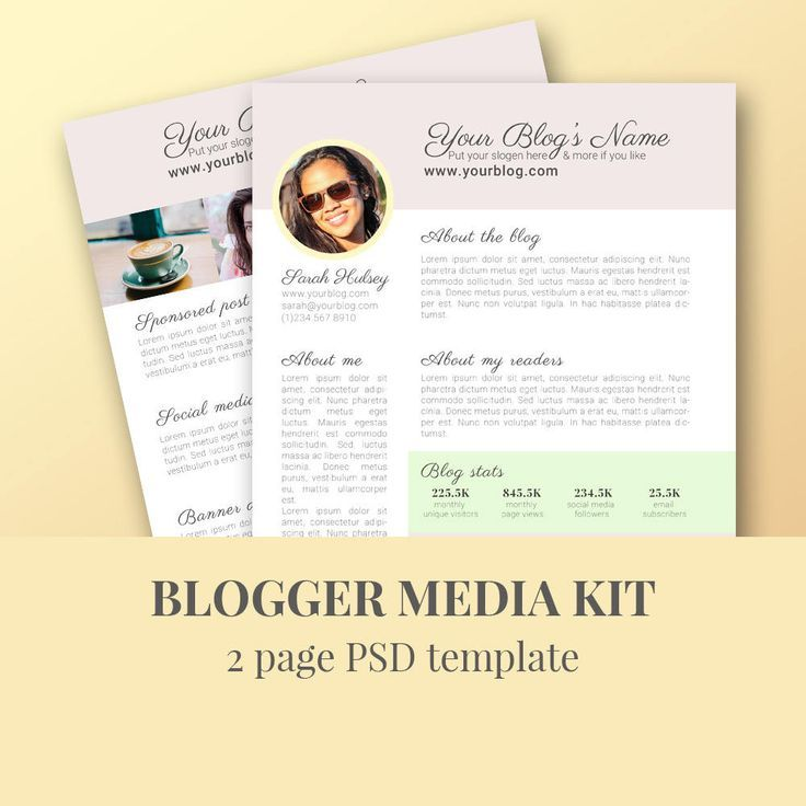 Press Kit Template Instant Download Media Kit Template Press Kit