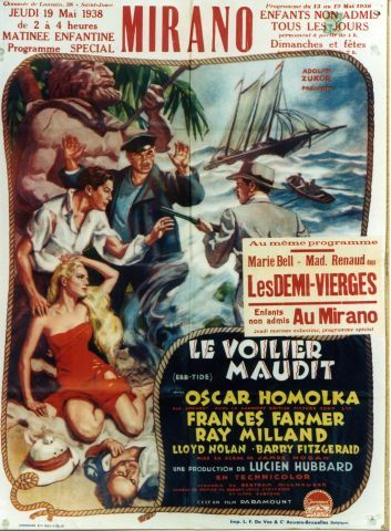 Ebb-tide - Le Voilier Maudit - Vintage movie poster