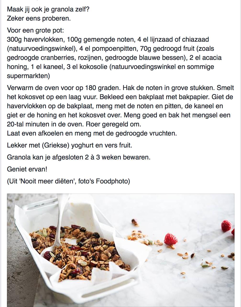 Bekend Granola door Sandra Bekkari #sandrabekkari | Healthyschmelty in #JV01
