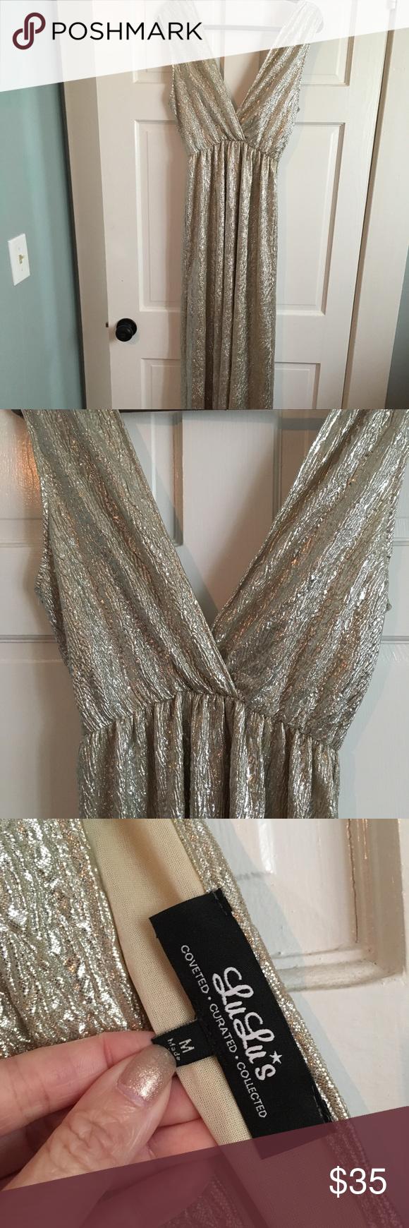 Lulus wedding guest dress  Lulus all that shimmers gold light gold maxi dress  My Posh Picks