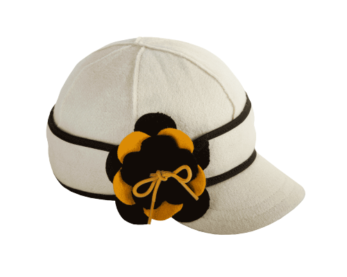 Petal Pusher Benchwarmer Black & Gold (Stormy Kromer) (23-25 oz. 80% wool / 20% nylon.100% cotton lining. Made in the USA with globally sourced materials. Dry clean only.)