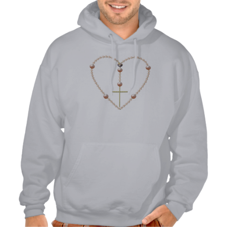 """""""Pearls"""" #heart shaped #Rosary #Hoodie...#Catholic #Christian #religious #religion #clothing #forsale #RoseSantuciSofranko #Artist4God #ChristmasGifts #presents #designer #customizable #fashion #BlessedVirginMary"""