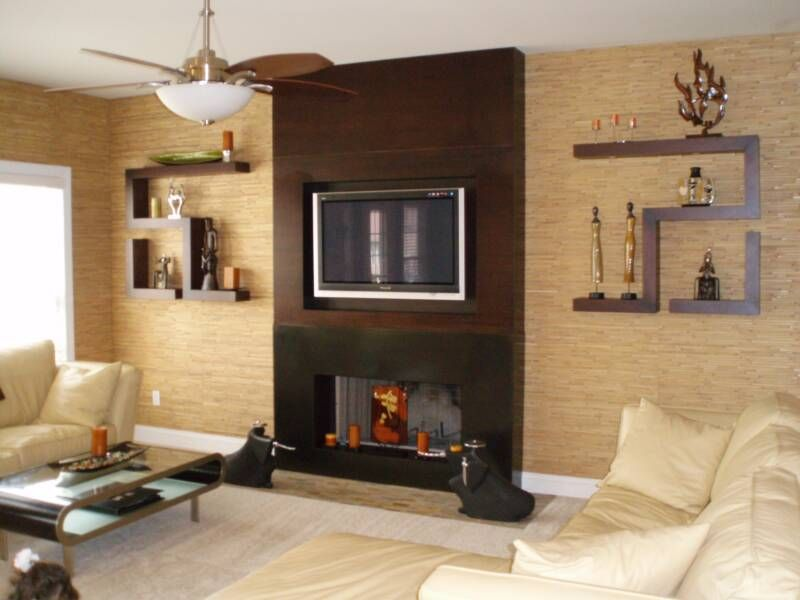 images of fireplace ideas | ... Design & Fabrication Natural Wall Covering  / Custom