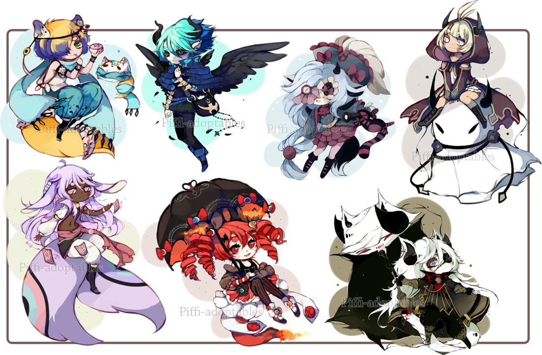 Special chibi commission batch 02 by Piffiadoptables on