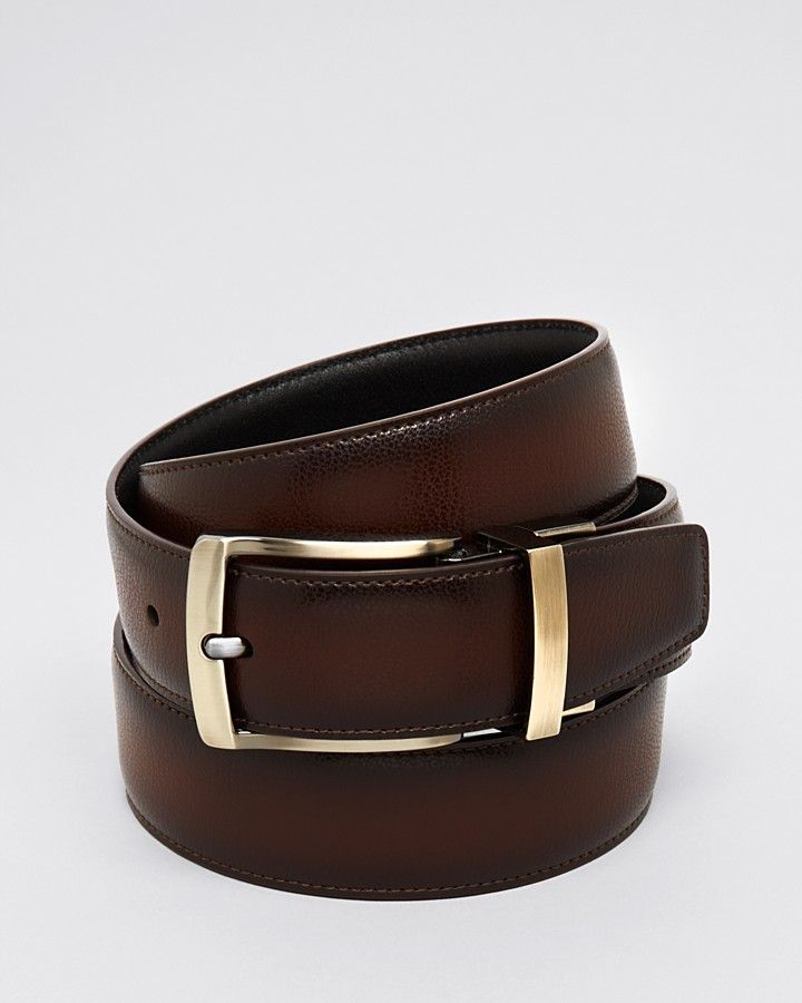 dd1139552b7 Bloomingdale s The Men s Store at Reversible Burnished Edge Buckle Leather  Belt - 100% Exclusive