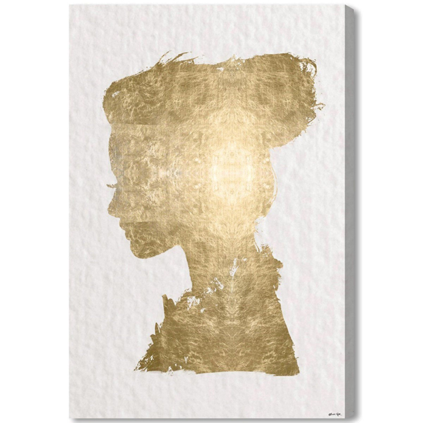 Oliver Gal Beaute In Gold Canvas Wall Art - 17783_16X24_CANV_XHD ...