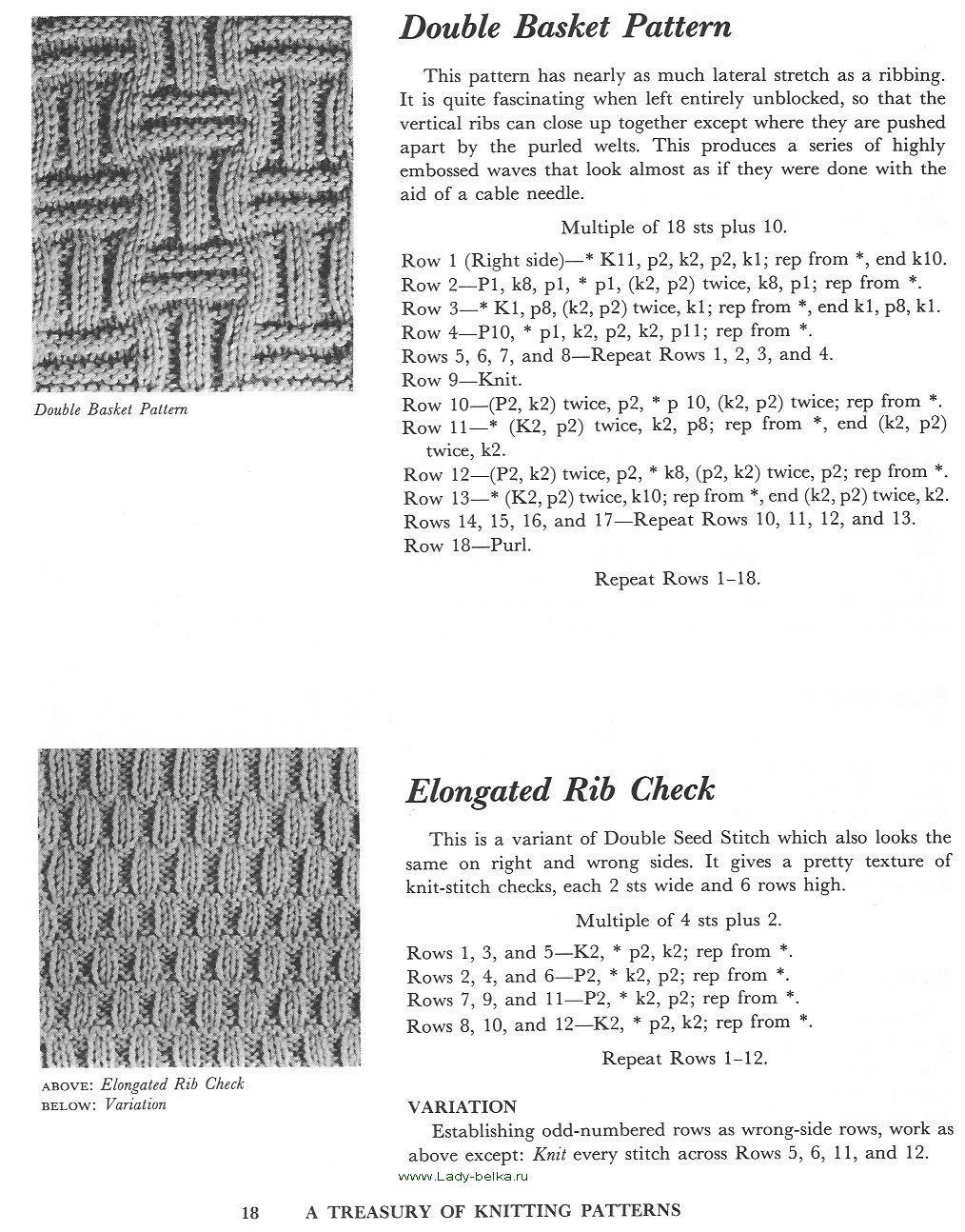 A treasury of knitting patterns | Узоры для вязания ...