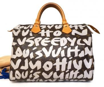 e050a7f42a2e Louis Vuitton Silver Graffiti Speedy 30 Bag Made In France