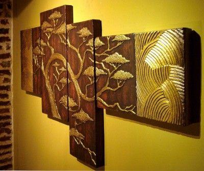 Cuadros en relieve de tipo oriental cuadros hermosos - Cuadros abstractos relieve ...