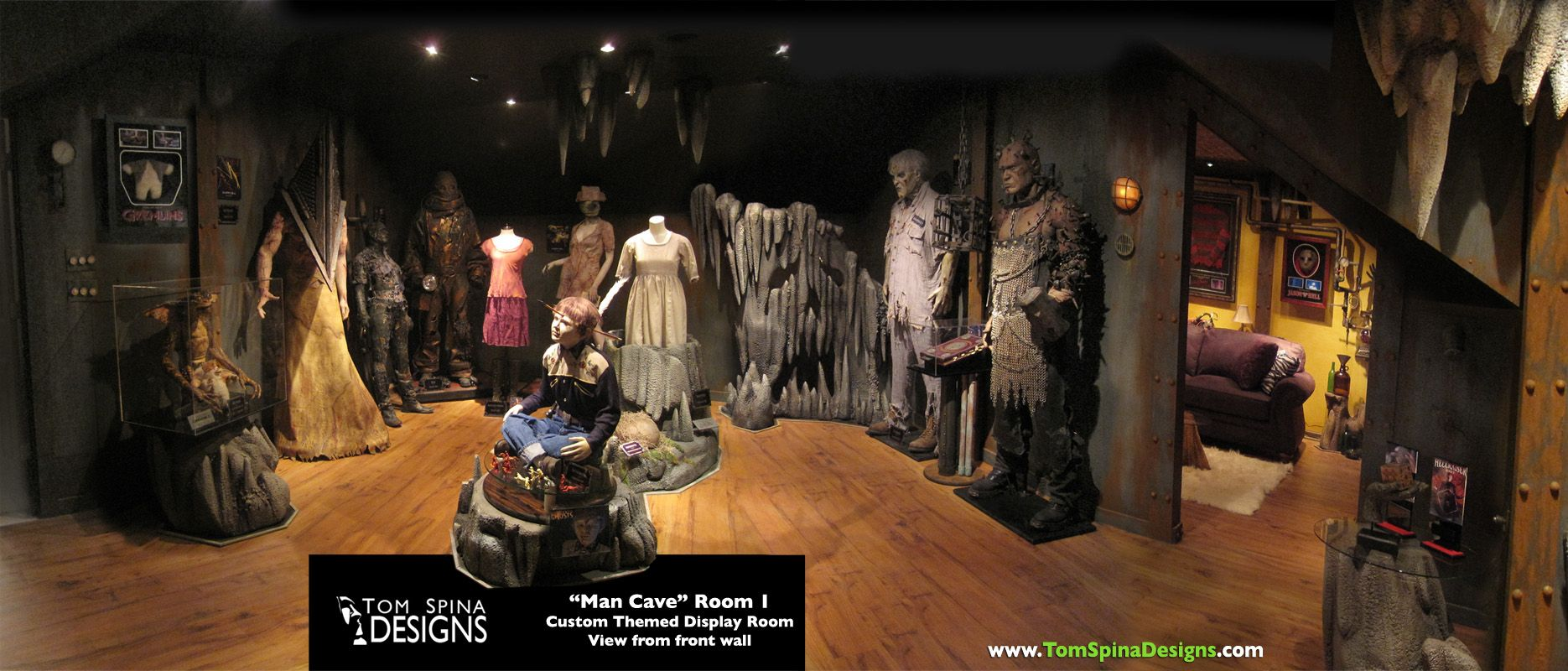 Etonnant Custom Man Cave   Horror Themed Home Theater U0026 Movie Prop Museum   Tom  Spina Designs