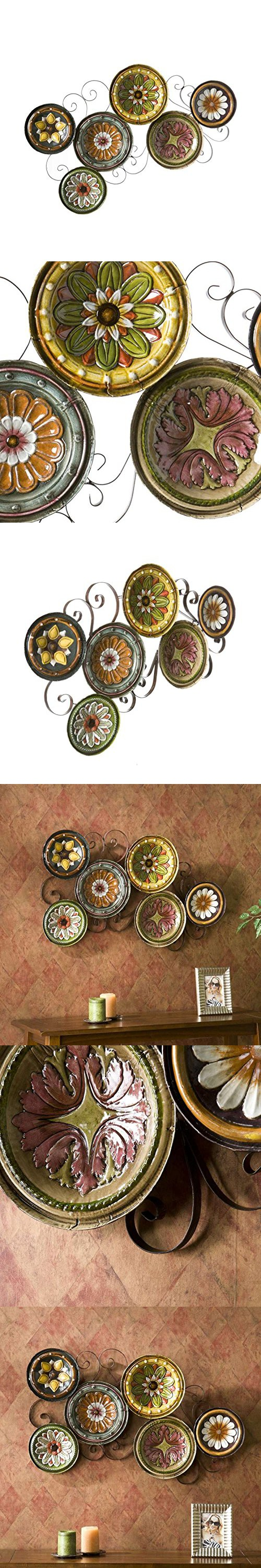 Scattered italian plates wall art kitchen tuscan metal hand