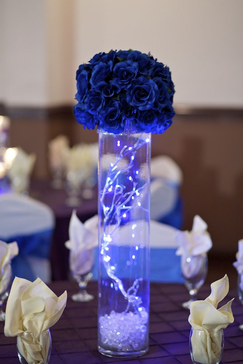 Quinceanera Centerpieces Blue Pin by Brush Strokes o...
