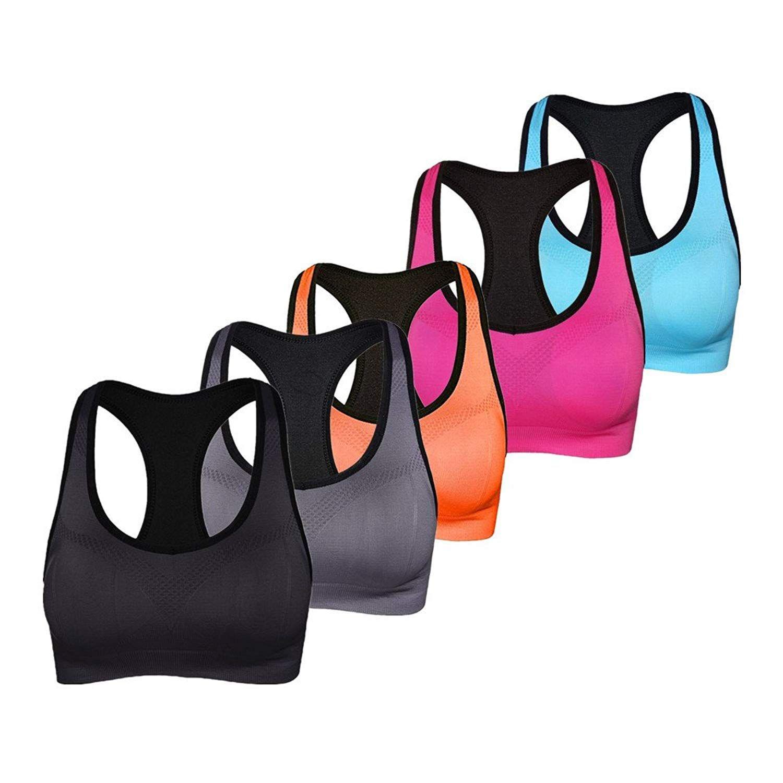Women's Sports Bra Pack Wireless Padded Sports Bra