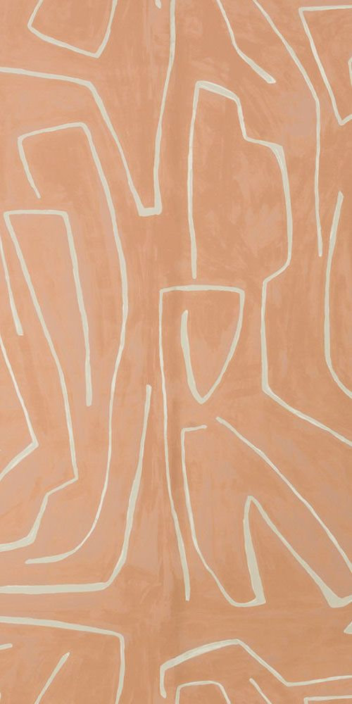 KELLY WEARSTLER | GRAFFITO WALLPAPER. In Salmon/Cream
