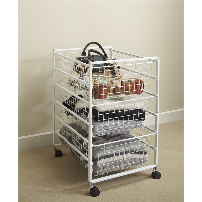 Flexi Storage White 6 Runner Kit With Baskets Clever Closet
