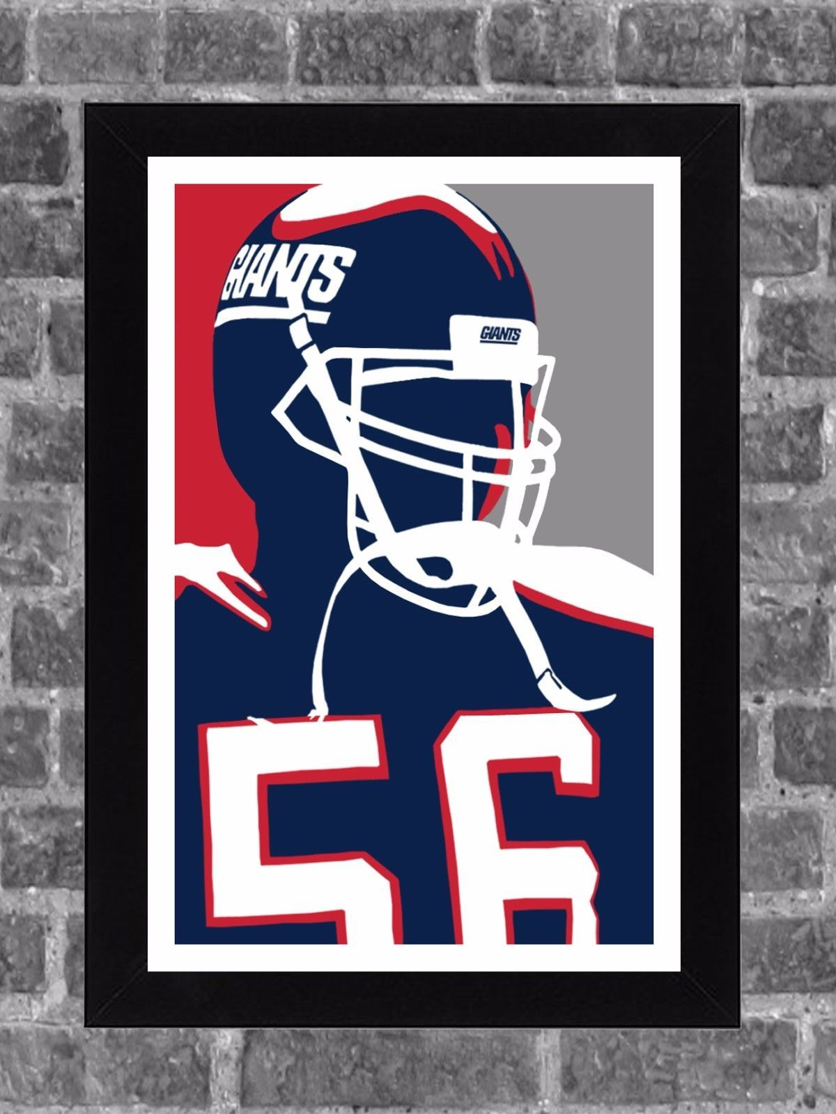 low priced a0b2c 147da Details about New York Giants Lawrence Taylor Portrait ...