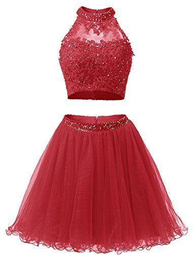 Dresstells® Short Prom Dress 2016 Two Pieces With App... https://www ...