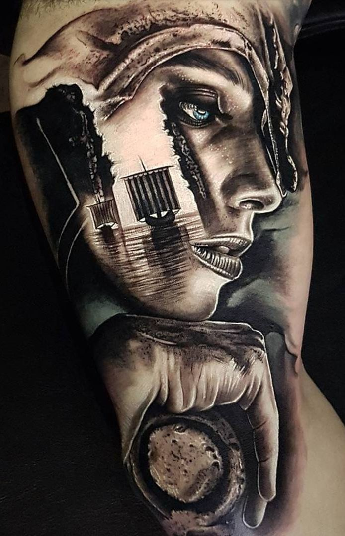 Photo of Realistic Tattoos with Morphing Effects by Benji Roketlauncha