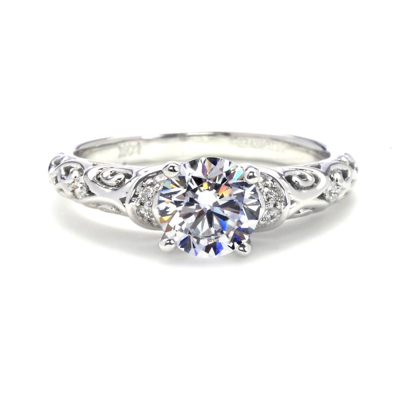 filigree filligree halo engagement ring diamond and custom rings