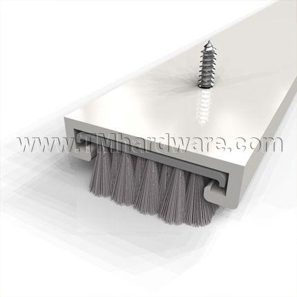 Door Sweep Mortised Track With 187 Pile Brush Seal Door Sweep Diy Sliding Barn Door Doors