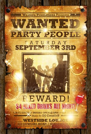 Wanted Flyer Templates Ad Wanted Spon Flyer
