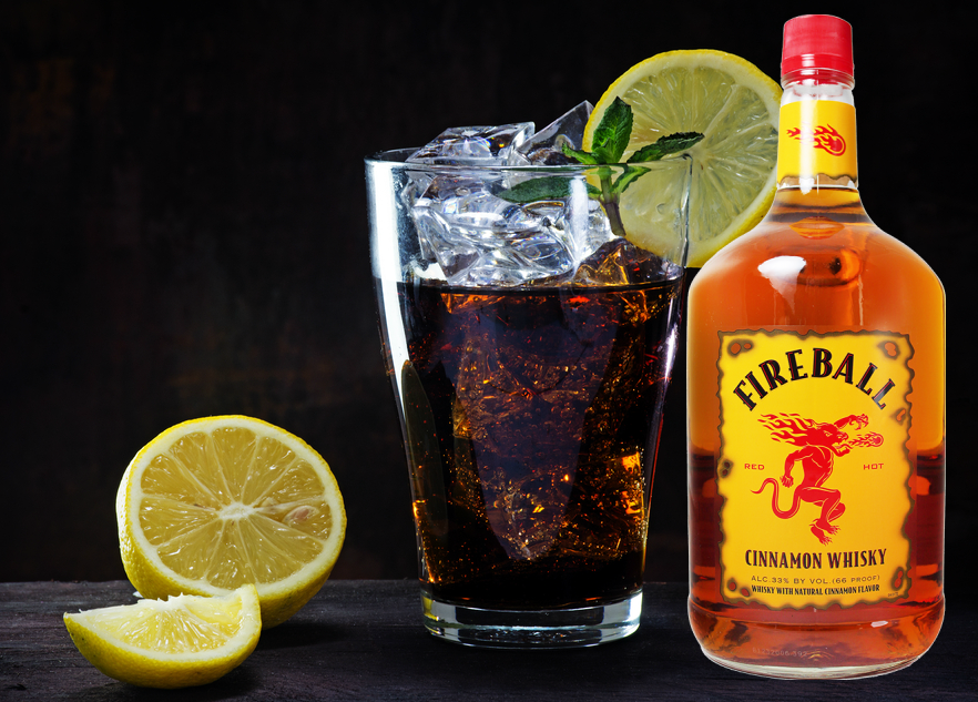 This 7 Layer Fireball Cocktail Will Have You Seeing Double This Spring And Summer Fireball Cocktails Cocktails Whisky Cocktail Recipes