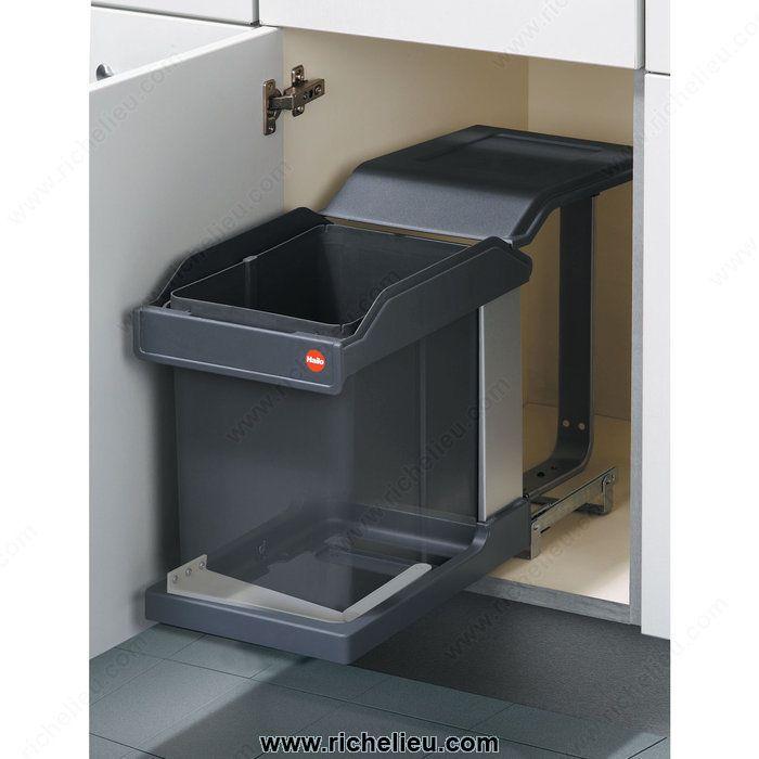 poubelle coulissante 20 l 1 rangement cuisine pinterest poubelle coulissante poubelle et. Black Bedroom Furniture Sets. Home Design Ideas