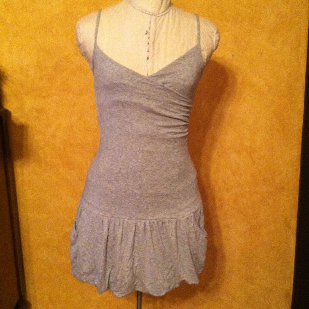 Urban Outfitters Lux Heather Gray Bubble Dress S