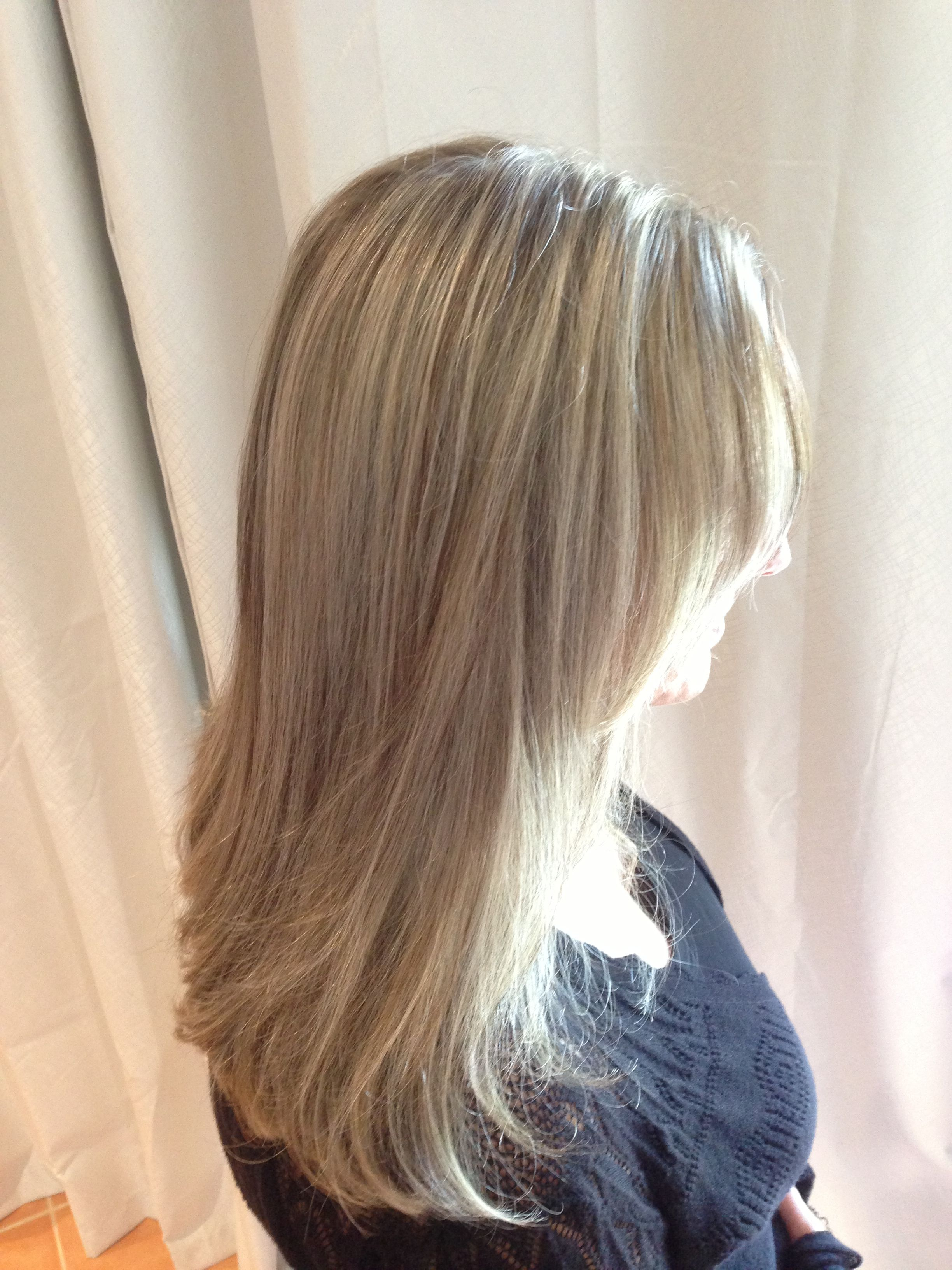 Half A Head Of Foils Natural Brown And Blonde Long Hair Styles