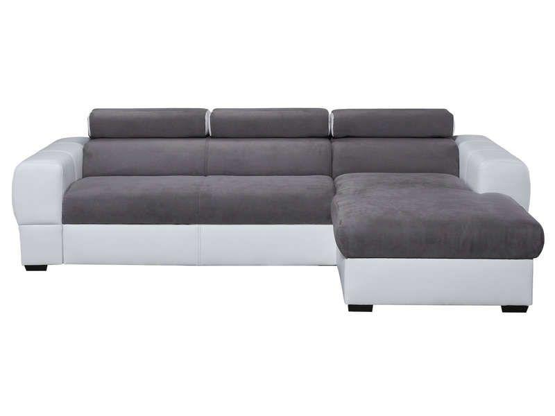 canap d 39 angle droit convertible 5 places en tissu tresor. Black Bedroom Furniture Sets. Home Design Ideas