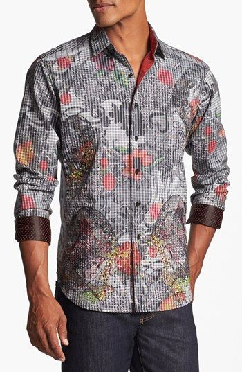 Robert Graham Tequila Regular Fit Sport Shirt Nordstrom Mens Paisley Shirts Casual Shirts For Men Sports Shirts