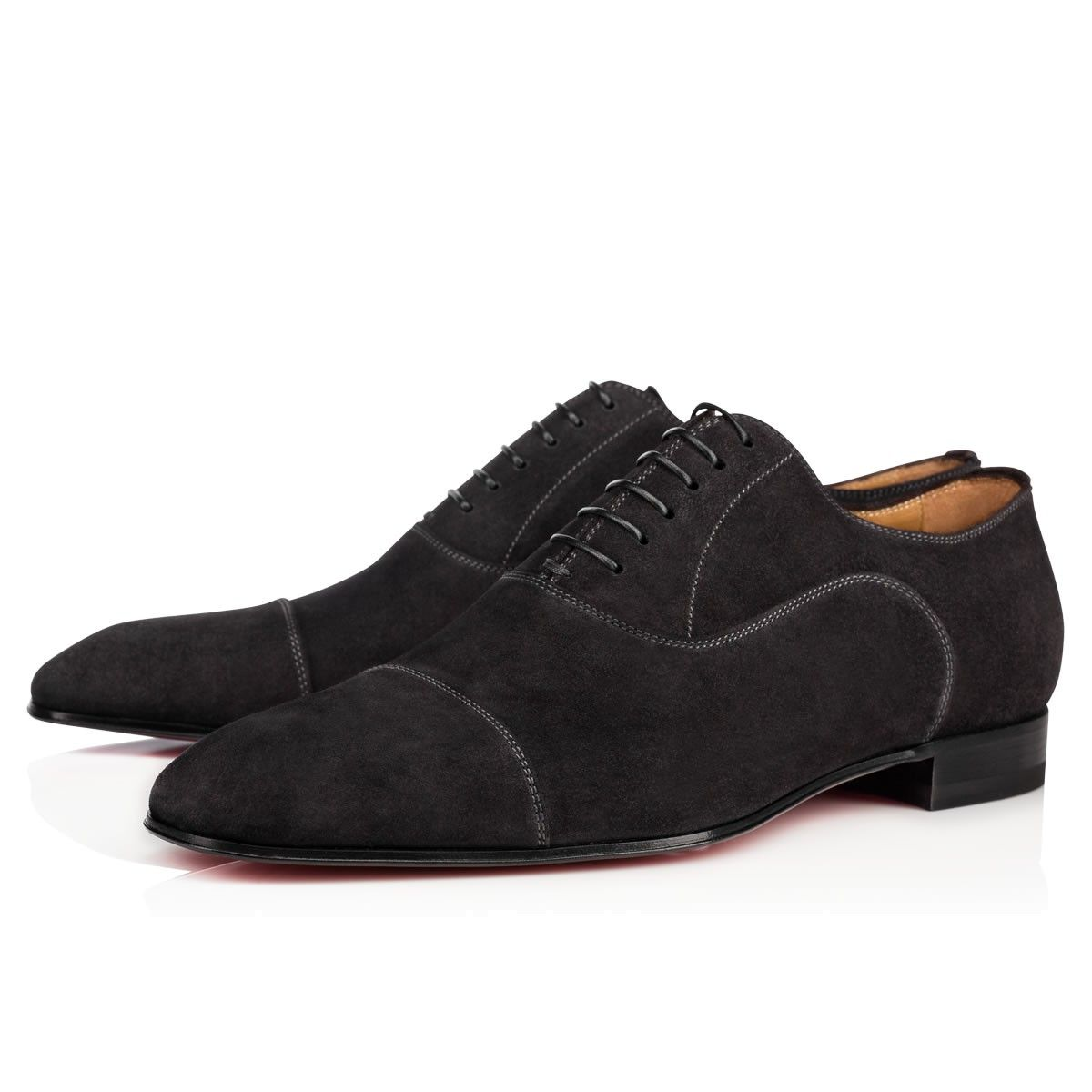 CHRISTIAN LOUBOUTIN Greggo Veau Velours Fusain Veau Velours - Men Shoes - Christian  Louboutin. #