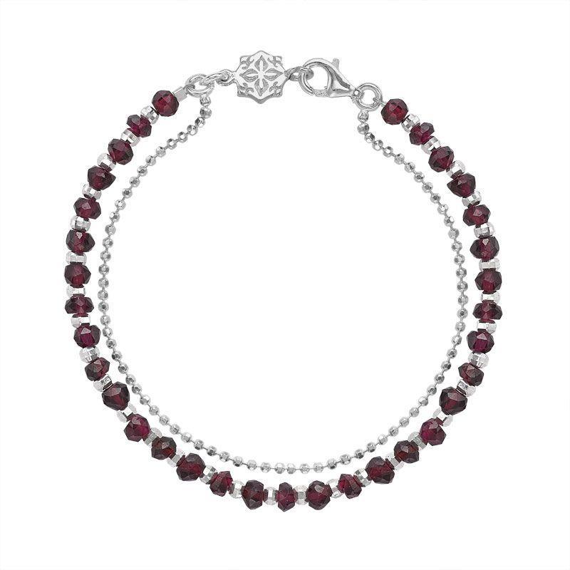 Dower & Hall Sterling Silver & Moonstone Bead Orissa Bracelet IoRZiR1