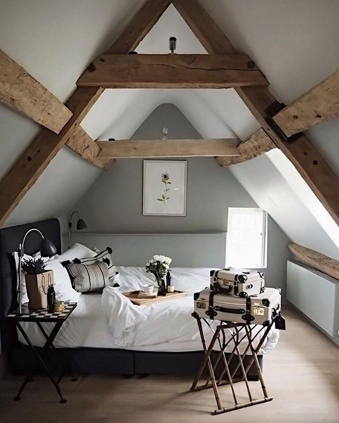 Modern And Stylish Rustic Scandinavian Bedroom Decor Decomagz Attic Bedroom Designs Scandinavian Design Bedroom Bedroom Design