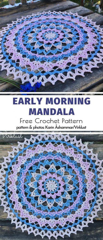 Happy Crochet Mandalas Free Patterns #crochetmandalapattern