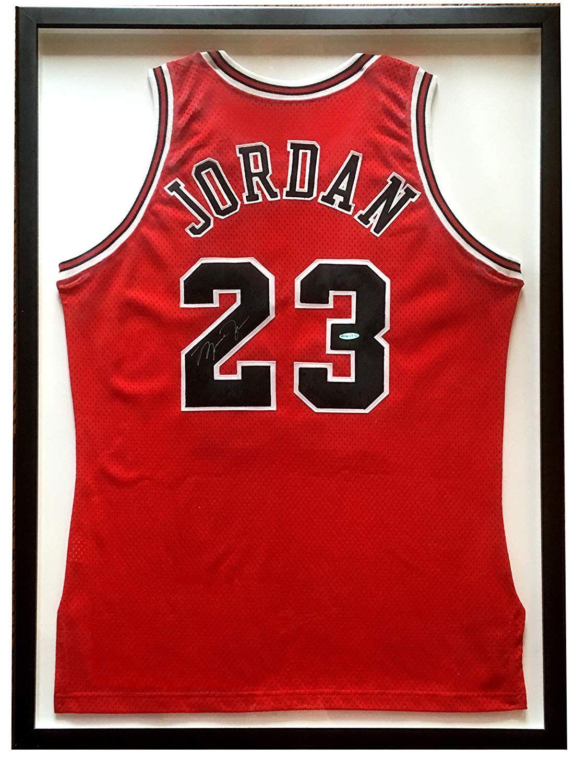 33346d111 Michael Jordan signed Bulls  23 basketball jersey vintage autograph UDA COA