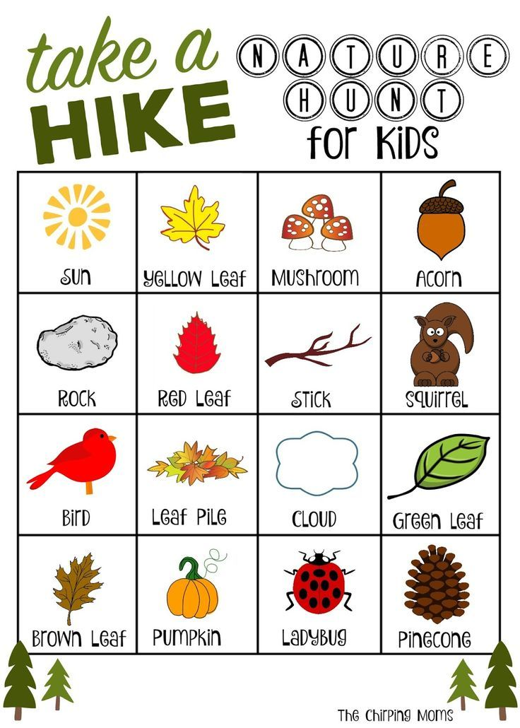 Quot Take A Hike Quot Nature Hunt Free Printable Nature Hunt Nature Scavenger Hunts Autumn Activities
